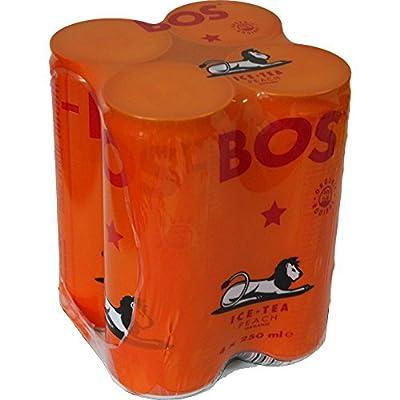 BOS Boisson Tendance Sud Africaine à Base de Rooibos Saveur Pêche 4x25cL