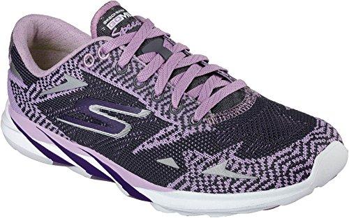 Skechers Go Meb Speed 32016, Baskets Basses femme Violet/gris anthracite