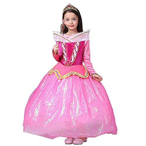 Make Up Kostüm Aurora (Aurora Kostüm sleeping beauty Rosa Prinzessin Kleid Mädchen Partei Kleiderzeremonie Abend)