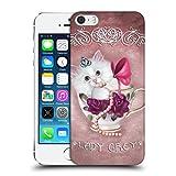 Head Case Designs Offizielle Ash Evans Lady Grey The Katzen Auf Tassen Ruckseite Hülle für Apple iPhone 5 / 5s / SE