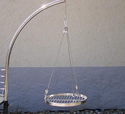 Grillgalgen + Edelstahl Grillrost 30 cm rund für Grill Schwenkgrill Feuerschale Feuerstelle