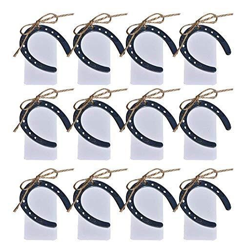 Awtlife 24 herraduras de la suerte de hierro fundido estilo vintage para bodas, regalos, fiestas, decoracion
