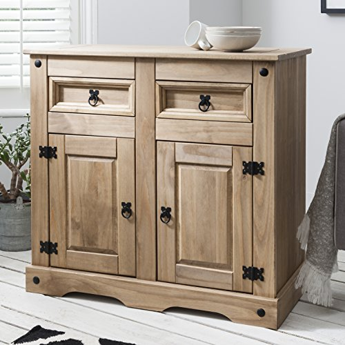 Corona Mexican Pine Large Sideboard, 2 Drawers & 2 Doors