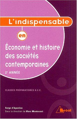 Economie et histoire des sociétés contemporaines : 2e année
