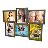 604 Fotogalerie für 6 Fotos 13x18 cm - 3D Optik - Bilderrahmen Bildergalerie Fotocollage Rahmenfarbe Kupfer