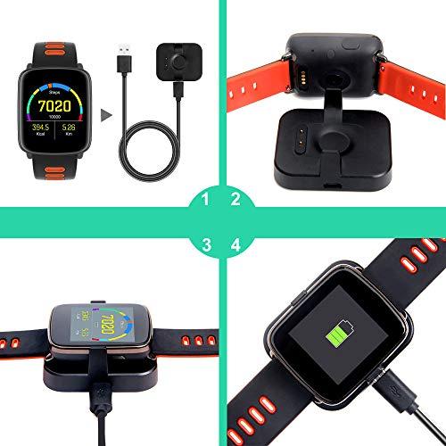 YAMAY Smartwatch Wasserdicht IP68 Smart Watch Uhr mit Pulsmesser Fitness Tracker Sport Uhr Fitness Uhr mit Schrittzähler,Schlaf-Monitor,Stoppuhr,Call SMS Benachrichtigung Push für Android und iOS - 7