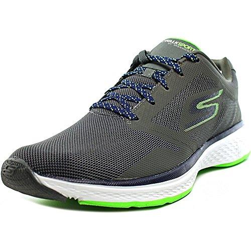Scarpe sneakers ginniche Skechers modello GoWalk Sport da uomo, blu elettrico, in tessuto mesh, ammortizzamento in Memory Foam COD. 54145 NVY Grigio
