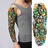 tzxdbh 5pcs-Adesivo Tatuaggio Impermeabile Aquila Casco Maschera Guerriero Spada Croce Braccio Completo Tatuaggio Tatuaggio Set Uomini e Donne 5 Pezzi-