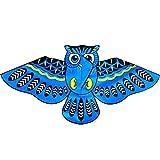 xMxDESiZ Karikatur-Eulen-Fliegen-Einzellinien-Drachen mit 1.4m Schnur im Freienspaß-Sport-Spielzeug Blau