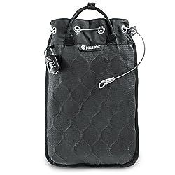 Pacsafe Travelsafe 5L - Mobiler Safe mit TSA-Zahlen Schloß, Trage-Tasche mit Anti-Diebstahl Technologie, 5 Liter Volumen, Anthrazit/Charcoal