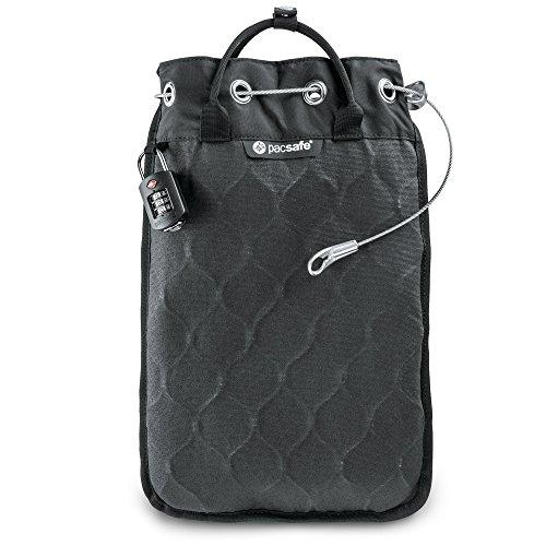 Pacsafe Travelsafe 5L - Mobiler Safe mit TSA-Zahlen Schloß, Trage-Tasche mit Anti-Diebstahl Technologie, 5 Liter Volumen, Anthrazit/Charcoal - Rucksack-geldbeutel-handtasche