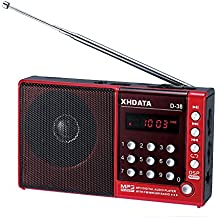 XHDATA® D-38 FM-Stereo / MW / SW / MP3-Player / DSP Vollband Radio D38 (red)