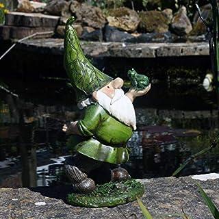 FHFY Garden Gartenzwerg Neddy mit Frosch
