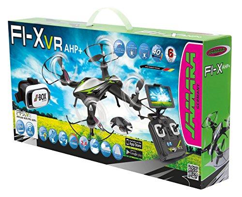 Jamara 422021 - F1X VR Altitude FPV Wifi Kompass Flyback - Race Drone, inklusiv VR-Brille, über Sender und App steuern, 3 Geschwindigkeiten, 40 KM/h, Höhenkontrolle (Barometer) und Rückflugautomatik - 11