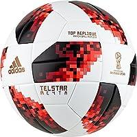 Adidas FIFA World Cup Knockout Top Replique Negro, Rojo, Blanco Exterior - Pelotas de fútbol (21,8 cm, Negro, Rojo, Blanco, Exterior, FIFA, Estampado, Termoplástico de Poliuretano (TPU))