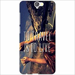 HTC One A9 Back Cover - Travel To Live Designer Cases