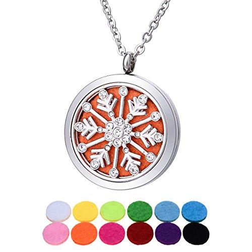 Blanc K diamant insert en acier inoxydable circulaire suspension de verrouillage magnetique de neige pouvant être ouvert creux aromatique 30mm-1