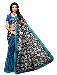 Fab Women Net Saree with Blouse Piece (Fab1564_Black_Free Size)