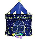 Pop-Up Magic Castle Crown Tent Kiddy Children Indoor and Outdoor Tent with Windows and Roll up