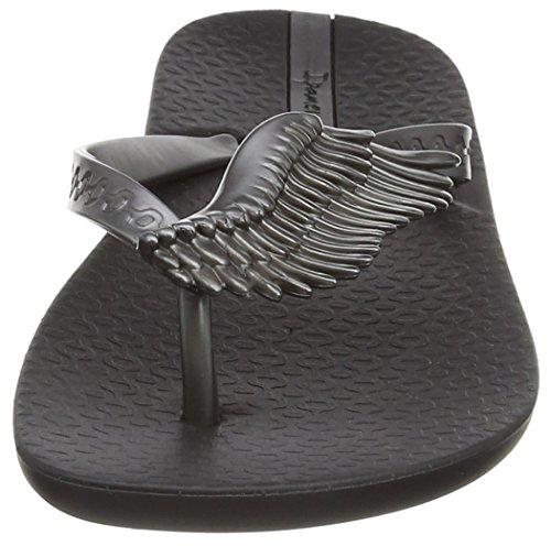Ipanema Wings, Sandales Plateforme femme Noir - Noir (Noir/argenté)