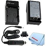 Car/Home Charger For EN-EL3E Rechargeable Battery For Nikon D70 SLR D70s SLR D50 SLR D80 SLR D100 SLR D200 SLR Cameras + Microfiber Cloth