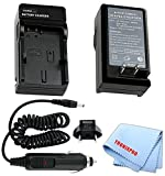 Car/Home Charger for NP-FW50 Rechargeable Battery for Sony Alpha NEX-F3 Sony Alpha NEX-7 Sony Alpha NEX-6 Sony Alpha NEX-5R Sony Alpha NEX-5T Sony Alp