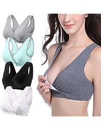 898e9eb0a7 Bllatta Womens Cotton Nursing Bra Sleep Tank for Breastfeeding and Maternity  (3Pack   4Pack)