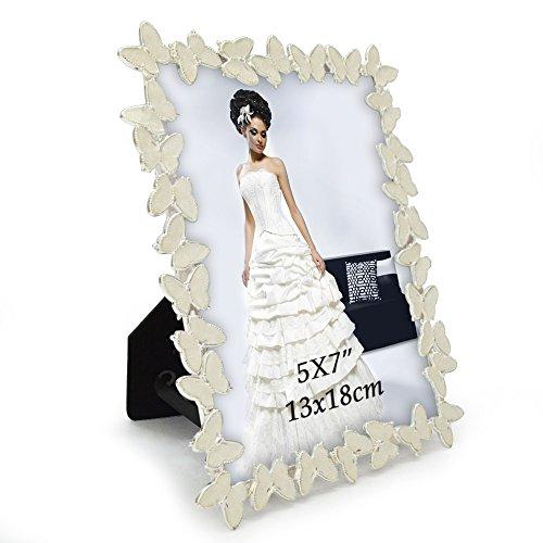 Giftgarden 13x18 cornici portafoto con farfalla bianca regalo per amica