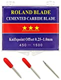 Roland Plotter-Messer Vinyl Schneider Schneideplotter Plotter Vinyl-Schneidemesser Starke und Professionelle Ersatzmesser im 3- er Set