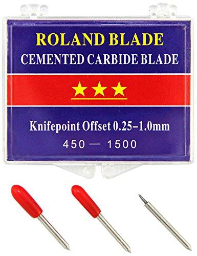 PixMax Roland Plotter-Messer Vinyl Schneider Schneideplotter Plotter Vinyl-Schneidemesser Starke und Professionelle Ersatzmesser im 3- er Set