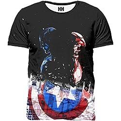 Noorhero Camiseta de Hombre - Capitan America & Iron Man