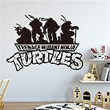 stickers muraux Comics Art personnages de dessins animés Teenage Mutant Ninja Tortues Sticker Autocollant Décoration de la maison