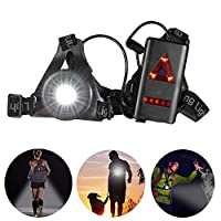 Docooler Outdoor LED Chest Light Night Running Light Rechargeable Flashlight with Removable Fixing Band for Camping Hiking Running