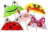 3D Kinder Regenschirm Kinderschirm Frosch Schmetterling Marienkäfer Meerjungfrau (Ente)