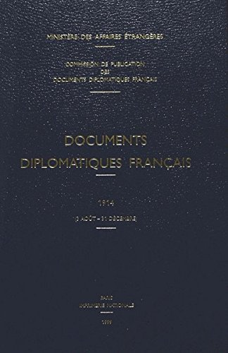 Documents diplomatiques français, 1914 (3 août - 31 décembre)