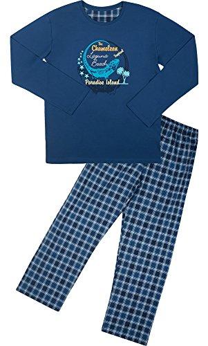 Cornette Jungen Pyjama CR-553-Young(Jeans (Chameleon2), 164/XS) (Set Herren-xs-pyjama)