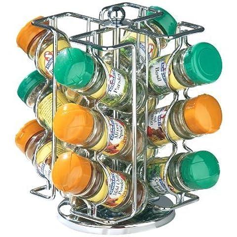 Premier Housewares Revolving Spice Rack with 12 Schwartz Jars -