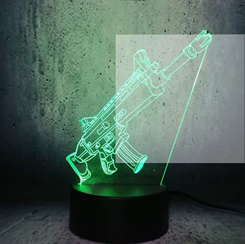 Kühles 3D Maschinenpistole Spielzeug Spielzeug Nachtlicht Usb Lampe Thema Party Weihnachten Kinder Geschenk