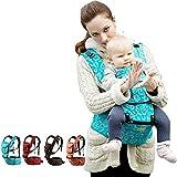 MRDEER Baumwolle Babytrage (25 kg, 0-36 Monate) Abnehmbarer Multifunktional Babytragetuch Warm Bequem Ergonomische Babyt