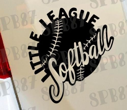 Softball Little League Ball Spiel Sport Baseball Hobby Funny Car Bumper Window Funny Vinyl Van Laptop Love Herz Decor Home Live Kids Funny Art Wand Aufkleber Aufkleber Motorräder (Little Softball League)