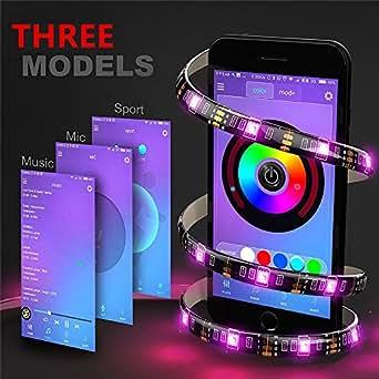 Elinkume ® RGB LED Streifen, Wireless Bluetooth app