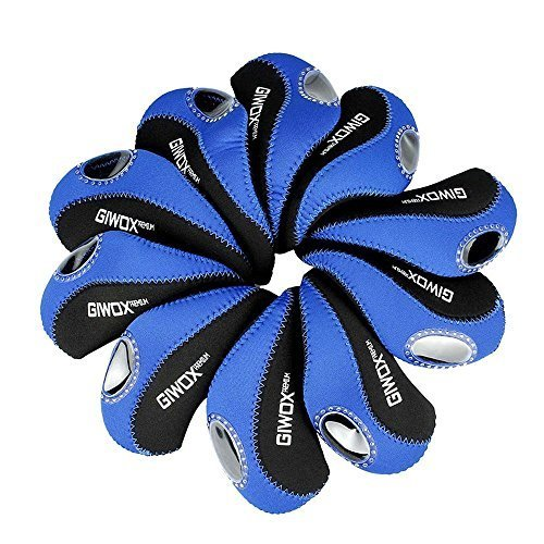 Giwox Golf Club Iron Head Covers Elastic Neoprene Golf Head Protect Case Set of 10