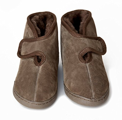Pantofole pelle di pecora ATENE (100% pelliccia d agnello) taglia 38 colore 8fe7f97e881