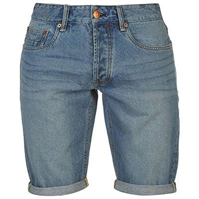 Firetrap Mens Blackseal Denim Shorts Pants Trousers Bottoms Summer Casual