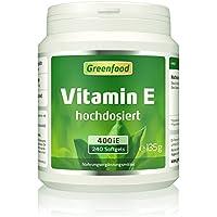Vitamin E, 400 iE, hochdosiert, 240 Softgel-Kapseln – das Anti-Aging-Vitamin. Schützt, pflegt und regeneriert die Haut. Hält die Blutgefäße geschmeidig. OHNE künstliche Zusätze. Ohne Gentechnik.