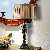 SSBY Simple, país iluminación lámparas, dormitorio, muebles de noche, lámparas de mesa decorativas, resina, lámpara ahorro de energía de tela