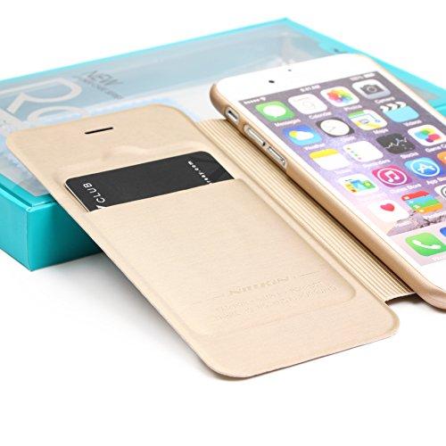 Original UrCover® Nillkin Rain Series Flip Tasche für das Apple iPhone 6 Plus / 6S Plus ( 5.5 Zoll) Luxus Schutzhülle Zubehör Hülle Schale Displayfolie Schwarz Champagner Gold
