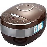 DHG Smart Reiskocher 4L Mode 4-5 Personen 24 Stunden Verabredung Reiskocher,Braun