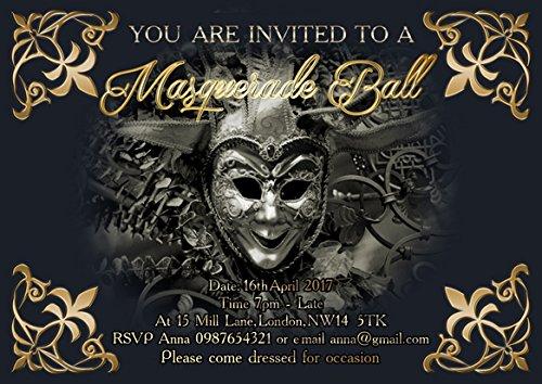 ar Masquerade Abend Einladungen (Masquerade-einladungen)