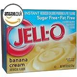 JELL-O SUGAR FREE BANANA CREAM REDUCED CALORIE PUDDING AND PIE FILLING 1 x 25g BOX FAT FREE JELLO